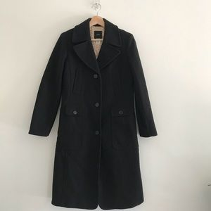 J. Crew Wool Cashmere Long Peacoat Jacket Coat